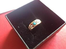 Antique 15ct gold &Turquoise ring