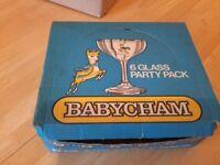 6 Babycham glasses