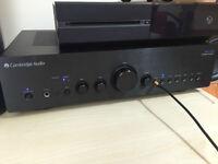 Cambridge Audio Azur 550 A amp black brushed front latest design!mint condition