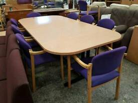 Modern boardroom table with 8 Chairs