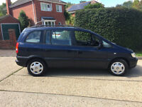 2003 VAUXHALL ZAFIRA 7 SEATER COMFORT, 1 OWNER, AIRCON, C/D PLAYER. LONG MOT.