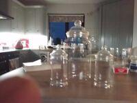 Plastic jars.