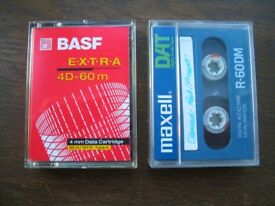 Selection of used DAT / DDS data tapes