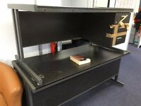 Two Commerce Rectangular Office Desks (Black) with storage capacity [Second Hand]