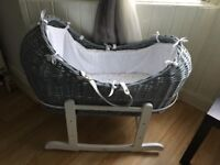Pod Moses basket very little use
