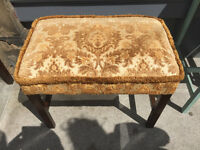 Large Footstool / Piano Seat Size L 26in D 16in H 21in.