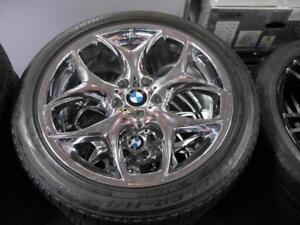 20 INCH DEMO BMW X6 STAGGERED CHROME RIMS & BRIDGESTONE RUNFLAT TIRES & TPMS
