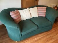 3 seater settee, dark green,excellent condition and very comfortable.