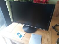 """PC Monitor Asus 24"""" with Build-in Camera + Cables"""