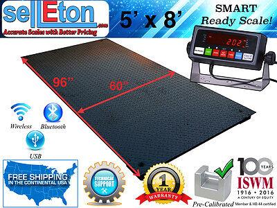 New 5 X 8 60 X 96 Industrial Heavy Duty Floor Scale 5000 Lbs X 1 Lb