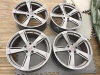 "Wolfrace Genesis 20"" alloy wheels T5 fitment"