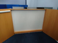 CONFERENCE ROOM WALL CABINET PROJECTOR SCREEN/WHITEBOARD AND FLIP CHART