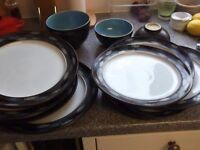 8 plates 3 bowls denby