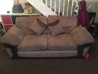 Dfs 3+2 seater sofa with footstool