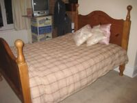 Double Bed Solid Pine