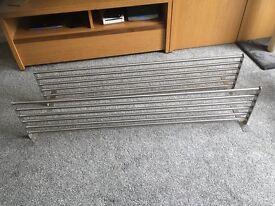 Metal shelves x2
