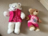 Build a bear x 2 bears with 7 outfits