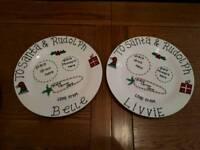 Personalised Christmas eve plates