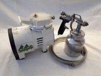Small Compressor and Spraygun