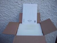 4 Brand New Boxes of Sealed Air White Bubble Lined Envelopes Size F/3