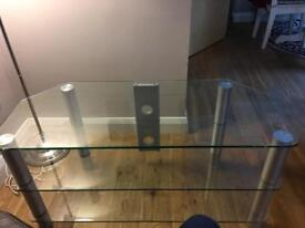 Glass tv stand / cabinet