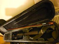 Stagg EVN X-4/4 BK Full Size Electric Violin - Black