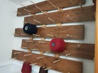 Wall Rack for Cones of Yarn for weaving or knitting