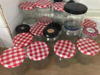 Bonne maman + other glass jars