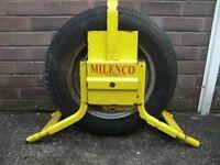Milenco Caravan / Trailer security wheel lock.
