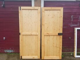 Tongue and groove doors