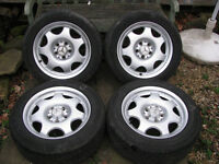 Four Mercedes E Class wheels (211 / 210) VGC with 2 good tyres