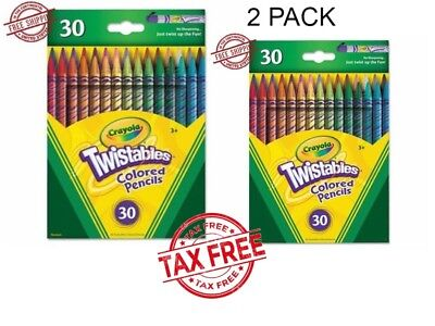 Crayola 30 Twistable Colored Pencils Drawing Kids Art Tools Adult Coloring 2pack