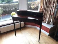 Dark Wooden Console Table with 3 Drawers - Very Good Condition!