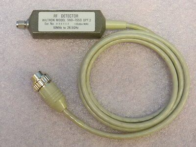 Wiltron 560-7s50 Opt. 2 Rf Detector 10mhz-26.5ghz Tested