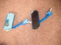 A PAIR OF BLUE COLOUR SCOOTER TINTED MIRRORS NEW