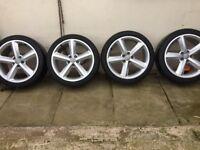 "4 18""Audi alloys very clean good tyres."