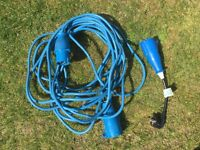 Camping electric hook up extension lead.