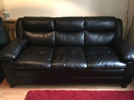 Compact 3 Seat & 2 Seat Faux Leather Sofas