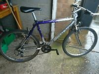 Carrera mountain bike 26 inch alloy wheels 21 inch frame 21 gears chain comes off sometimes