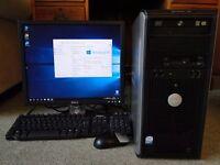 Windows 10 Dell, Desktop PC, Monitor, Keyboard, Mouse,