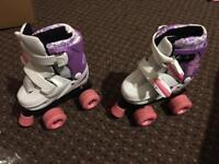 Kids Roller Skates (size adjustable 9-12) with protection set