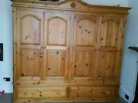 *SOLD* Solid pine double wardrobe