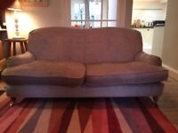 Three seater Laura Ashley sofa with new ,washable loose covers