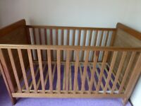 Childs Bed and cupboard/changing unit