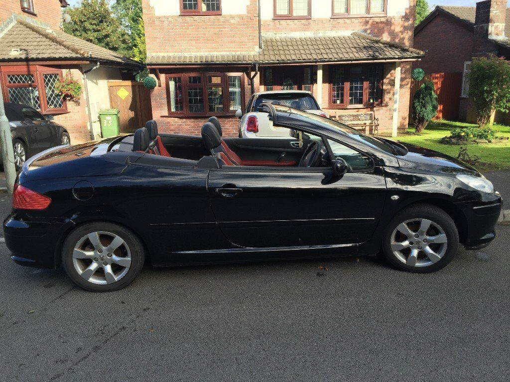 peugeot 307 1 6 allure coupe cabriolet convertible 2008 black mot 15th dec 2017 2200 in. Black Bedroom Furniture Sets. Home Design Ideas