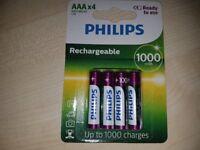 Philips AAA recharchable battery`s