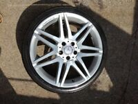 "Mercedes Benz 19"" AMG Alloy Wheel w212 E Class 235 35 19 Tyre 6mm"