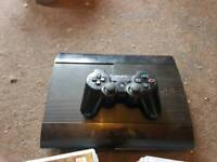 PS3 Super slim 500GB with 1 controller and 16 games