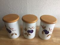 Royal Worcester Evesham Vale Storage Jars x 3