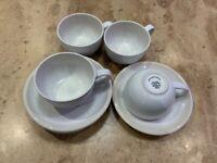 Rocha John Rocha Cream Stoneware Dinner Service. 41 pieces. Good condition.